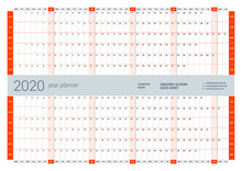 Wall Calendar Yearly Planner T...