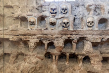 NIS, SERBIA - JUNE 15, 2019: The Skull Tower (Cele Kula )- Built From The 3000 Skulls Of Dead Serbian Warriors After Uprising In 1809 In City Of Nis, Serbia