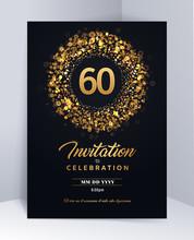 60 Years Anniversary Invitatio...