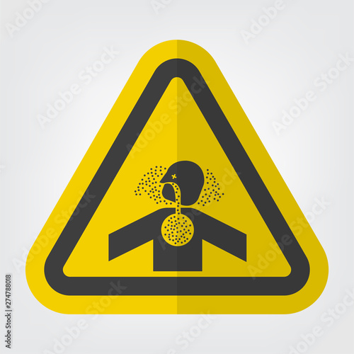 Photo Toxic Gases Asphyxiation Symbol Sign Isolate On White Background,Vector Illustration EPS