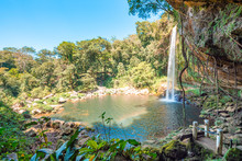 Panoramic View Of The MisolHa Waterfall In Chiapas, Mexico