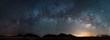Leinwandbild Motiv Pano of the Milky way in Arizona
