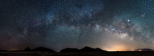 Pano Of The Milky Way In Arizona