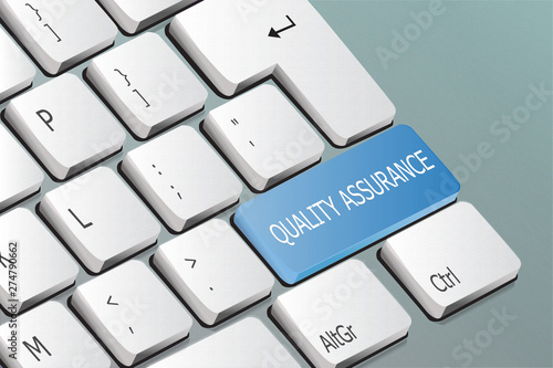 quality assurance written on the keyboard button Canvas Print
