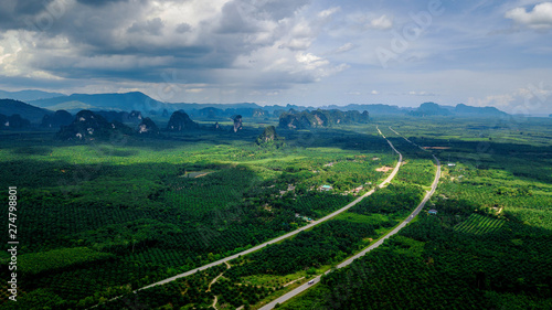 Aerial photo  of landscape ...