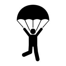 Man Parachute Skydiving Travel...