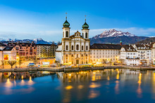 Panoramic View Of Lucerne With...