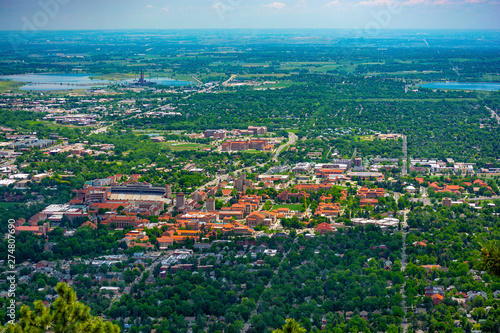University of Colorado Boulder Campus on a Sunny Day Canvas Print