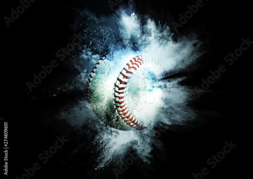 Fotografie, Tablou  爆発する野球ボール