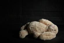 Soft Toy Rabbit On A Dirty Dar...