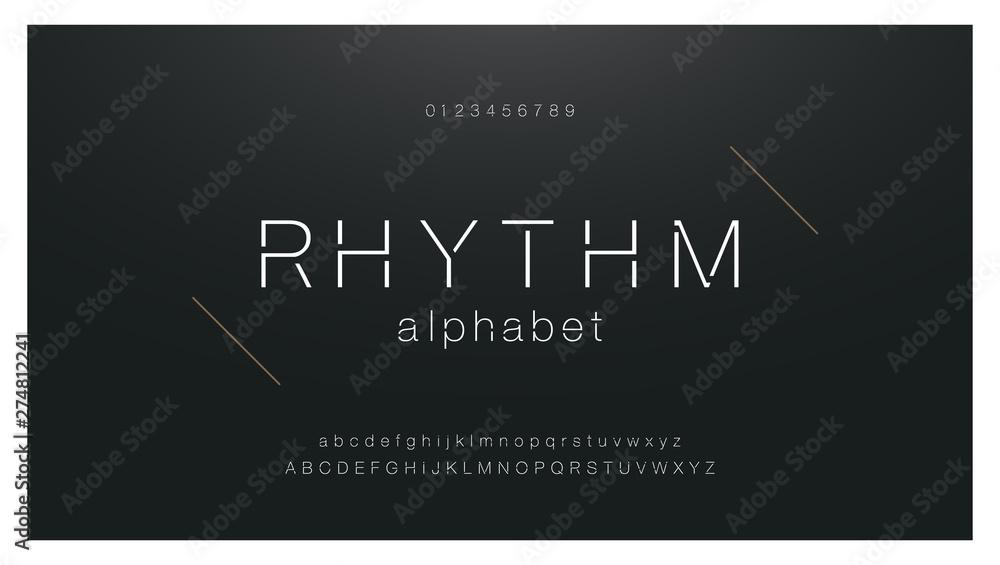 Fototapety, obrazy: Minimal urban fashion font creative modern alphabet. Typography with dot regular and number. minimalist style fonts set. vector illustration