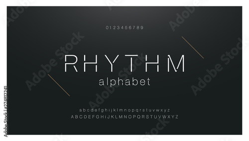 Photo  Minimal urban fashion font creative modern alphabet