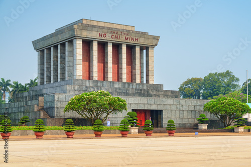 The Chairman Ho Chi Minh Mausoleum in Hanoi, Vietnam