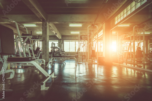 Fototapeta premium wnętrze siłowni