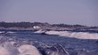 Waves crashing on Sweden's most famous shoreline for windsurfing in Stockholms south archipelago.