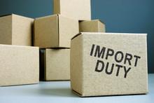 Import Duty Concept. Pile Of C...