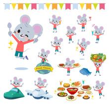 Animal Mouse Boy_food Festival