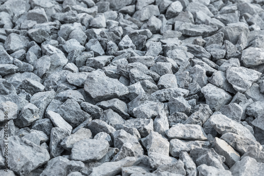 Fototapety, obrazy: Detailed of grey gravel for construction