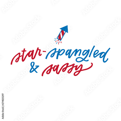 Carta da parati Star-Spangled and Sassy