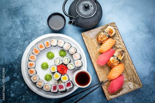 Set of traditional Japanese food © qwasder1987