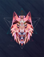 Colorful Abstract Polygonal Wo...