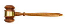 A Wooden Judge Gavel Isolated ...