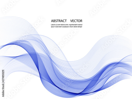 Photo  Vector abstract wave background