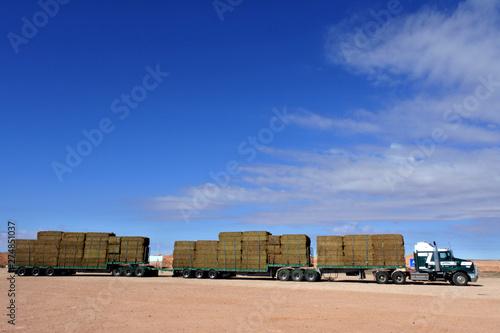 Fotografie, Obraz  Road train in central Australia Outback