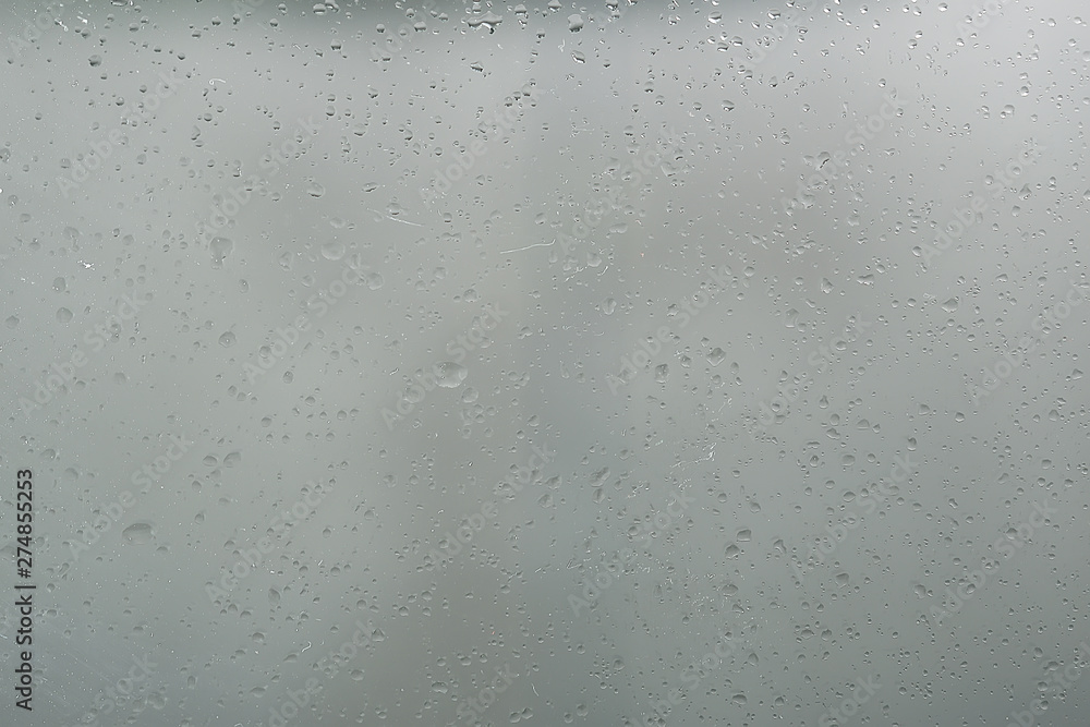 Fototapety, obrazy: wet glass background condensate / abstract rain, drops texture on transparent glass