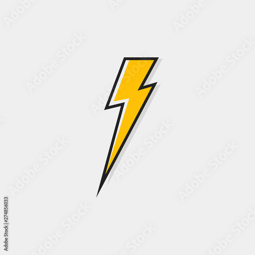 Garden Poster Cartoon cars Electric lightning bolt logo for your needs. Thunder icon. Modern flat style vector illustration