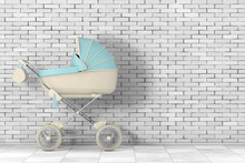 Modern Blue Baby Carriage, Str...