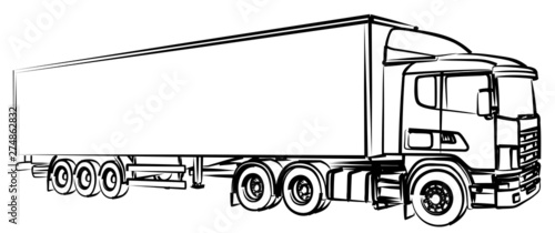 Fotografía A sketch of the long truck.