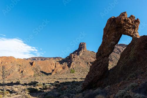 Zapato de la Reina (Shoe of the Queen), famous rock formation in Teide National Fototapeta