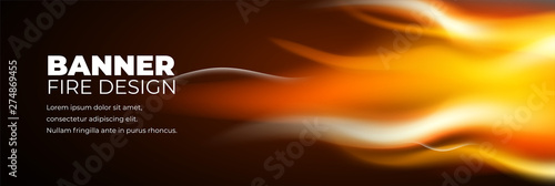Obraz na płótnie Abstract banner fire design template