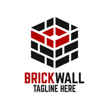 Modern Brick Wall And Letter B Logo