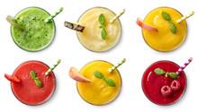 Set Of Various Fresh Fruit Smo...