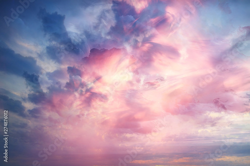 Fotobehang Lichtroze abstract pink colored background / blurred multicolored clouds, spring background