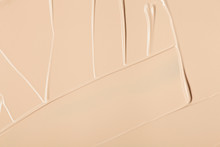 Close Up Of Face Liquid Foundation Texture.