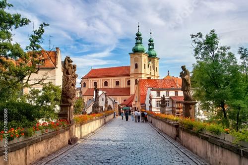 Keuken foto achterwand Oude gebouw Klodzko, baroque replica of the Charles Bridge in Prague
