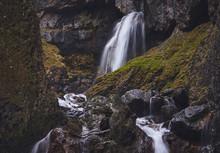 Gordale Scar Waterfall Through...