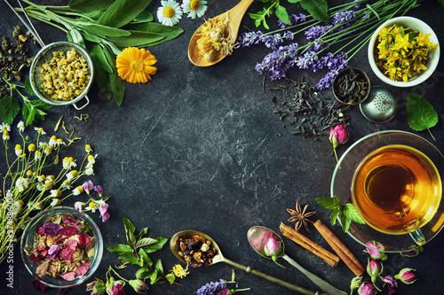 Poster Ecole de Danse Cup of healthy herbal tea