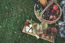 Picnic Setting With  Two Glass...