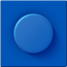 High Quality Glossy Big Blue Detail From A Plastic Constructor.