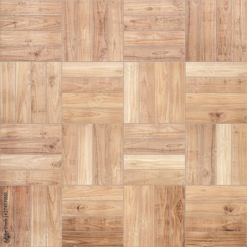 Fototapeta Wooden parquet board seamless texture, illustration obraz na płótnie