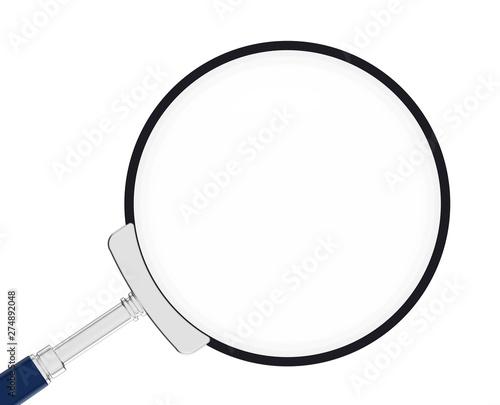 Magnifying glass. Optics. Loupe. Canvas-taulu
