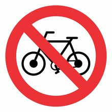 No Bicycle Traffic Sign