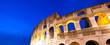 Leinwanddruck Bild - Colosseum at night in Rome, Italy
