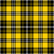 Yellow, Black And White Tartan...