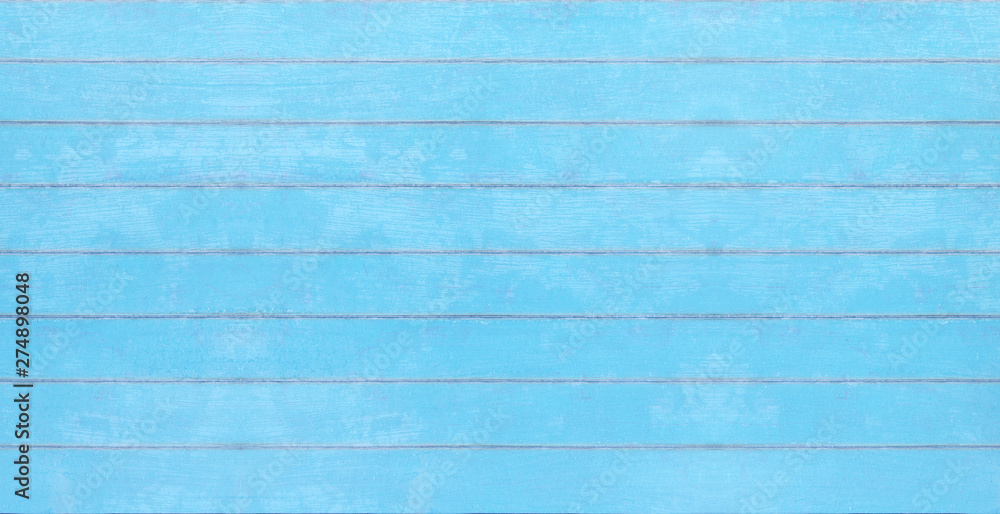 Fototapety, obrazy: Blue vintage wood texture, summer board background 3D Rendering