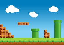 Old Video Game, Retro Style Ba...
